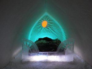 Chambre de l'hôtel de glace