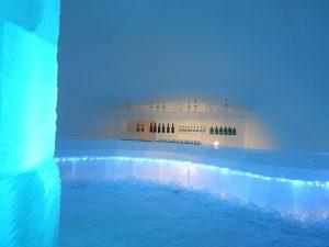 Bar de l'hôtel de glace